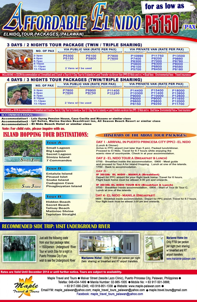 AFFORDABLE EL NIDO 2014